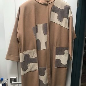OSGOOD SMUK GEOMETRIC SWING COAT. XL
